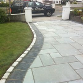 Blue Limestone with Black Limestone border
